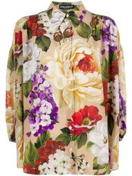 silk loose fit floral shirt
