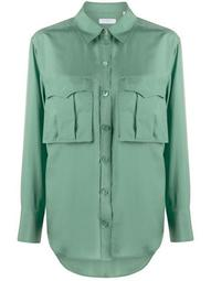 oversized chest pocket shirt