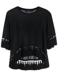 tassel trim T-shirt