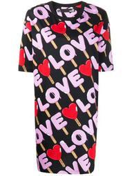 Love print T-shirt dress
