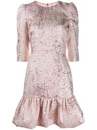 lamé jacquard short dress