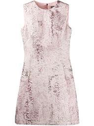 jacquard-effect short dress