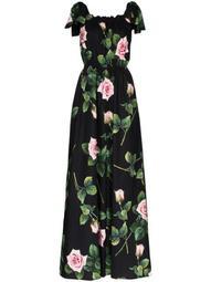floral-print cotton jumpsuit