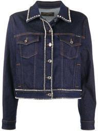 crystal-trimmed denim jacket