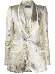 metallic textured blazer