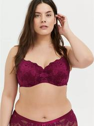 Berry Pink Lace 360° Back Smoothing™ Lightly Lined Full Coverage Balconette Bra