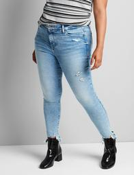 Deluxe Fit High-Rise Skinny Jean - Light Wash With Destruction
