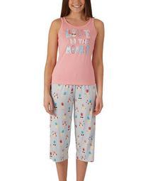 Plus Size Pineapple Tank & Capri Pajama Set, Online Only