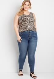Plus Size Everflex™ High Rise Button Fly Stretch Super Skinny Jean
