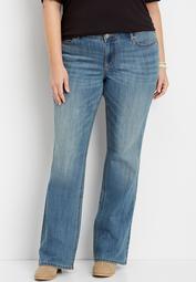 plus size DenimFlex™ medium wash bootcut jean