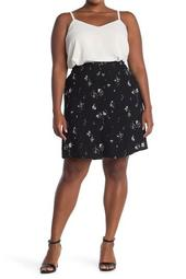 Button Front Skirt (Plus Size)