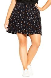 Ditsy Miniskirt