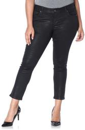 Coated Ankle Jeans (Plus Size)