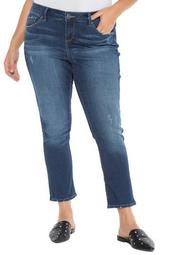Easy High Waisted Straight Leg Jeans (Plus Size)