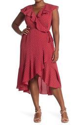 Ruffle Wrap Midi Dress (Plus Size)
