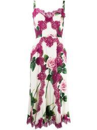 rose lace bodice dress