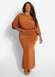 Ruched Draped Bodycon