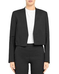 'Good Linen' Collarless Blazer