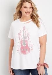 Plus Size Live Music Graphic Tee