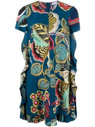 floral-print short dress