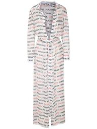 silk printed robe