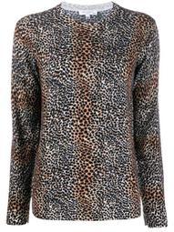 leopard print wool jumper
