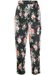 floral-print tapered trousers