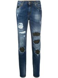 studded detail straight-leg jeans