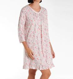 Aria Lace Beaded 3/4 Sleeve Short Gown 8022003