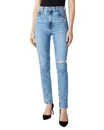 1212 Runway High-Rise Slim Jeans in Chadron Destruct