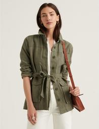 Belted Workwear Utility Jacket