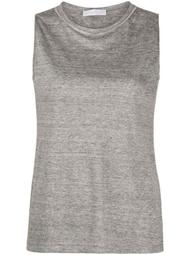 beaded-neckline tank top
