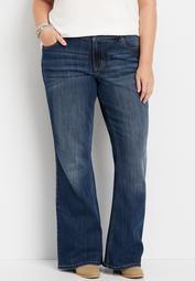 plus size DenimFlex™ dark wash flare jean