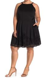 Fit and Flare Sleeveless Dress (Plus Size)