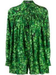 four-leaf clover print shirt