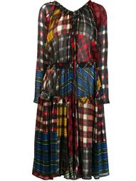 multi-check pattern dress