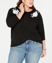 Style & Co - Embroidered Sweatshirt - Plus - 0X