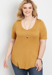 Plus Size 24/7 Flawless Solid Tee