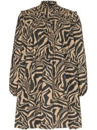 flared zebra-print dress