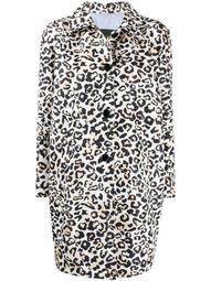 leopard print buttoned coat