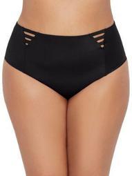 Elomi Womens Plus Size Magnetic High-Waist Bikini Bottom Style-ES7195