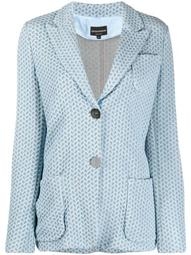 patterned knitted-style blazer