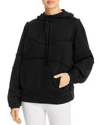 Dimension Raw-Edge Hooded Sweatshirt