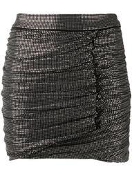 glass-stud fitted mini skirt