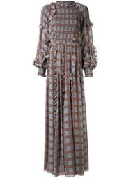 Cordelia plaid print gown
