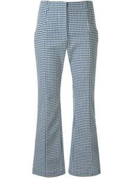 Maisie houndstooth print trousers