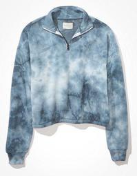 AE Fleece Cinched Quarter Zip Sweatshirt