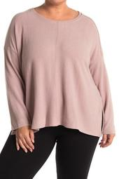 Seamed Brushed Hacci Sweater (Plus Size)