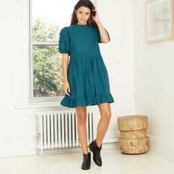 Women's Puff Short Sleeve Dress - Universal Thread™