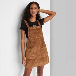 Women's Sleeveless Cord Pinafore - Wild Fable™